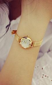 moda liga circular relógio de quartzo das mulheres