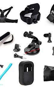 toz 9 IN1 kit bryst + hoved strop + arm band + monopod + sugekop + styr sadelpind + flydende gripfor gopor hero4 / 3 + / 3