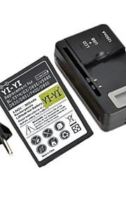 yi-yi ™ decodificado batería 3800mah reemplazo con base de carga y enchufe de la UE para lg g3 / bl-53yh / d855 / vs985 / d830