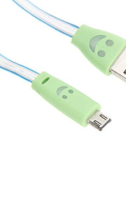 USB 2.0 / Micro USB 2.0 Luminous Plastic Cables 95cm