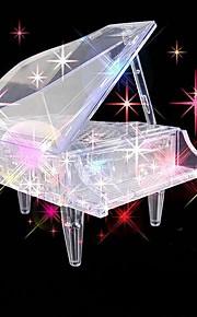 børns uddannelsesmæssige legetøj klaver DIY 3d tredimensionale krystal puslespil (tilfældig farve)