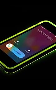 Nieuwe TPU geleid herinnering flash transparante achterkant van de behuizing dekking voor iPhone 6 (assorti kleur)