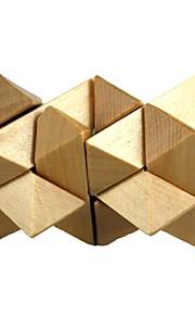 træ gemini låse legetøj (1stk)