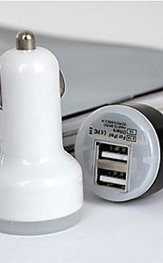 아이폰 / 삼성 및 기타 휴대 전화 (5V, 2A) (모듬 된 색상)에 대한 보편적 인 듀얼 포트 USB 차 충전기 어댑터