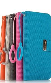 promoción siete wei casos de cuero teléfono de la serie para t528w htc (colores surtidos)