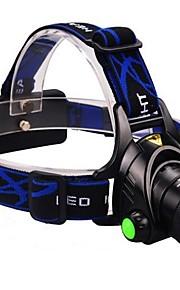 Lights Headlamps LED 2000 Lumens 3 Mode Cree XM-L T6 18650 Adjustable Focus / Waterproof / Anglehead Multifunction Aluminum alloy