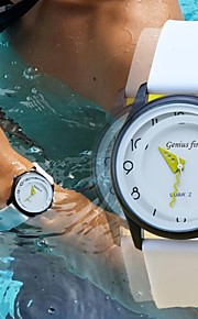 Herren-Sportuhr Mode 30 m wasserdicht Tauchen Armbanduhr weichen Silikonband Militäruhr (farblich sortiert)