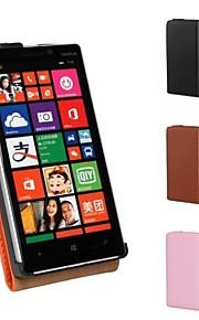 용 노키아 케이스 플립 케이스 풀 바디 케이스 단색 하드 인조 가죽 Nokia Nokia Lumia 930