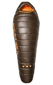 HIGHROCK Outdoor -5 Celsius Degree Coffee Color 3 Season Mummy Duck Down Adult Left Hand Sleeping Bag