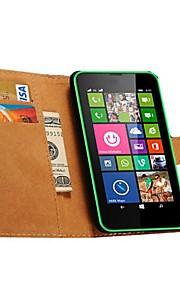 용 노키아 케이스 지갑 / 카드 홀더 / 스탠드 케이스 풀 바디 케이스 단색 하드 인조 가죽 NokiaNokia Lumia 950 / Nokia Lumia 925 / Nokia Lumia 930 / Nokia Lumia 640 / Nokia