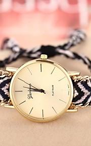 Bracele Relógio Relógio Casual Banda Boêmio Preto Vermelho Escuro