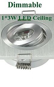 MORSEN 3 W 1 Høyeffekts-LED 200-300 LM Varm hvit Innfelt retropassform Dimbar Innfelt lampe / Taklys / Panellys AC 220-240 V