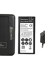minismile ™ vervanging 3800mAh li-ion batterij met een speciale acculader en eu plug voor Samsung Galaxy Note 4 / n9100