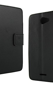 color sólido estilo de la carpeta de la PU cuero de la cubierta de protección de cuerpo completo con soporte y tarjeta de la ranura para el deseo htc