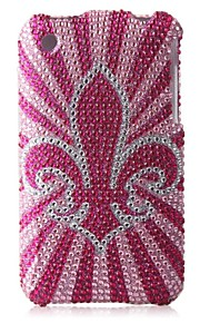 rose bunnen blomst bling case pc vanskelig sak for iPhone 3G / 3GS