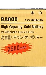 yi-yi ™ recargable 2680mah 3.7v ba800 batería li-ion para Sony Xperia S / LT26i / lt25c / lt25i