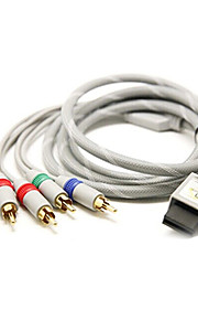 1.8M 5.904FT Wii 30Pin to 5RCA M/M Gold-Plated Audio Video TV HD Display Connection Cable for Wii Support 1080P