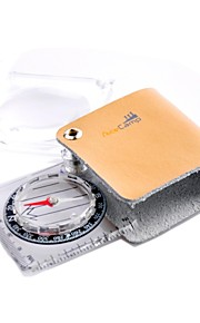 Square Portable Pocket Magnifier Compass With Holster