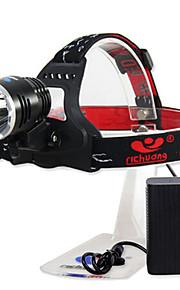 Richuang RC-0188C Rechargeable 3-Mode 1x Cree XM-L T6 10W Headlamp(800LM, 4x18650, Black)