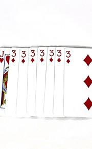 magiske poker magiske rekvisitter - flerfarvede (10 stk)