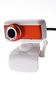 8 Megapixel Computer Camera USB 2.0  Video/ Clip-On Base/ Easy Install /Adjustable/360 ° Rotating Orange