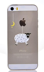 Iphone 5/iPhone 5S - Achterkantje - Cartoon/Speciaal Design/Transparant/Noviteit/Anime/Ultra Slim/Dier/Cool Word / Phrase/Holding / Eating Apple-logo