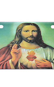 Jesus Pattern Decorative Aluminum Alloy Car License Plate
