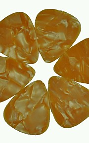 médio guitarra 0,71 milímetros pega palhetas pérola celulóide laranja 100pcs-pack