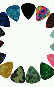 medium 0.71mm guitar picks plektre celluloid assorterede farver 100pcs-pack