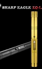 SHARP EAGLE/ZQ-LA-09 Green Laser Pointer(5mw.532nm.1x18650.Black/Golden)