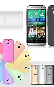 Para Funda HTC Ultrafina / Transparente Funda Cubierta Trasera Funda Un Color Dura TPU HTC