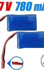 3pcs / pack 3.7v 780mAh lipo wltoys JST bateria para v626 v636 v686 v686g quadcopter drones baterias originais