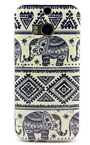 Para Funda HTC Diseños Funda Cubierta Trasera Funda Elefante Suave TPU HTC