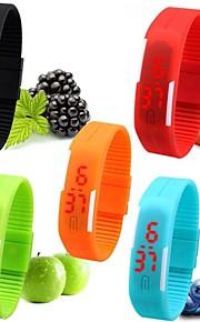 Masculino Mulheres Unissex Relógio Esportivo Relógio de Pulso Bracele Relógio Digital LED Silicone Banda Doce Preta Branco Vermelho Rosa