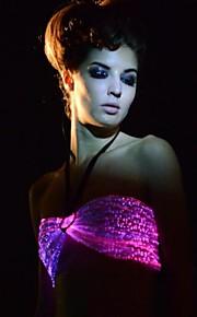 kvinders sexede fiberoptiske fjernbetjening multicolors førte fest / natklub bh