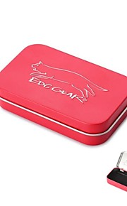 EDCGEAR Metal Storage Box Case for Cigarette - Red