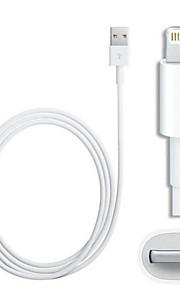 IFM 8-pin lampo maschio a USB 2.0 maschile per iphone / ipad / ipod (100cm)