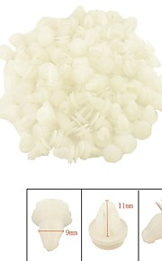 K075 100 Pcs Car Interior Panel Trim Clips White Plastic Rivet