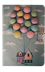 ballong hus mönster PU läder hela kroppen fodral med ställ för iPad Mini 1/2/3