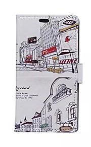estilo de la vivienda tarjeta patrones cartera urbana de la PU cuero caso de cuerpo completo para el deseo htc 826