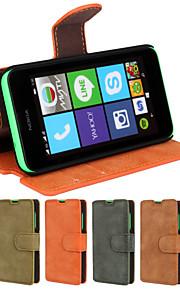 genuina mate cuero de la PU caso ranura de la tarjeta monedero cubierta abatible con soporte para Nokia Lumia 530 N530 (colores surtidos)