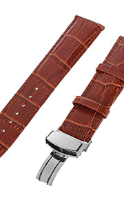 22 milímetros de café durável pu relógio de pulseira de pin banda fivela ajustável