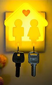 kreativ kan henge nøkkelen lille huset sensor om babyen sove nattlys (assortert farge)