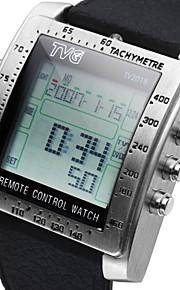 esportes funcionais relógio tv dvd relógio controle remoto dos homens assistir silicone relógio de pulseira militar liderada um relógio