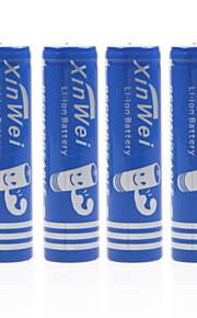Wei Xin 3,7 V 4500mAh 18650 oplaadbare lithium-ion batterij (4 stuks)