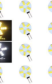 G4 - 5 Bi-pinlamper ( Warm White/Kald Hvit 500-800 lm- AC 12 V- 10 stk