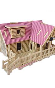 uddannelsesmæssige diy træ hytte 3 d puslespil