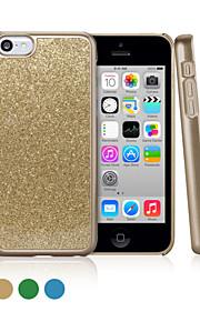 ggmm® gnistra pc och glitter pulver hårt fallet för iphone5c med gratis skärmskydd film
