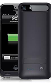 Ifans ® MFI 2400mAh iphone5s batterikasse ekstern aftagelig backup magt oplader taske til iphone5 / 5s (sort)