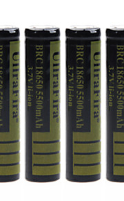 ullra fira 3.7V 5500mAh 18650 oplaadbare lithium-ion batterij (4 stuks)
